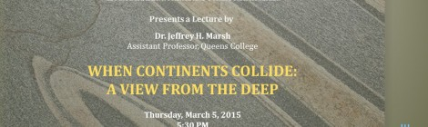 Spring Colloquium: Jeff Marsh - When Continents Collide: A View From the Deep