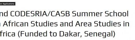 Summer School in Area Studies in Africa Application due 5/31